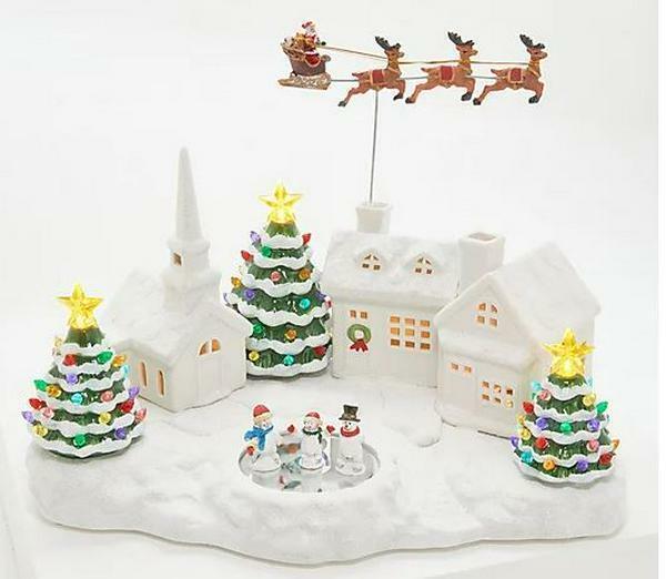 """Mr. Christmas 17"""" Nostalgic Animated Christmas Village"""