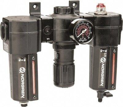 Norgren 12 Npt Port Standard 3 Piece Filter-regulator-lubricator Frl Unit M...