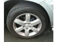 Full set of nissan xtrail jeep alloy wheels for sale.