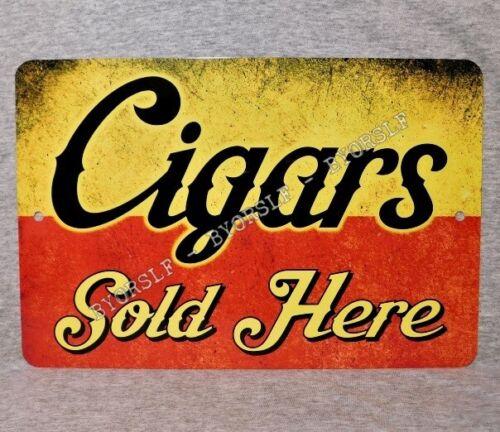 Metal Sign CIGARS Sold Here tobacco smoker cigar smoke shop smoking store box