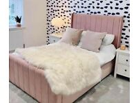 Stunning wingback beds with mattress