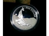Solid silver limited edition Kangaroo coin. Australian Royal mint. Boxed.