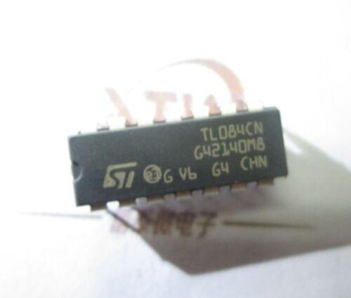 100pcs Tl084cn Tl084 Dip-14 Quad Jfet-input Op Amp Ic