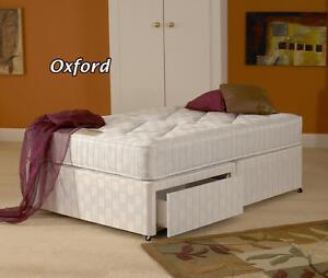 5ft Kingsize Oxford Orthopaedic Zip and Link Divan Bed