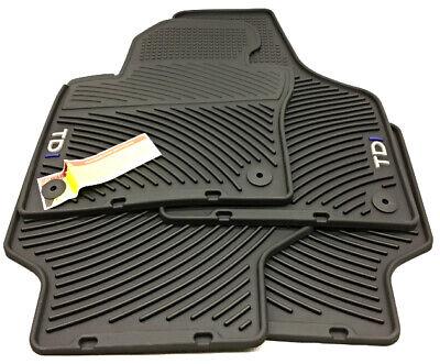 OEM Volkswagen Jetta TDI Sedan Floor Mats Round Grommet Holes 5C7 061 550 C 041