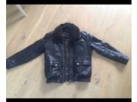 Hugo Boss Leather Jacket with Fur