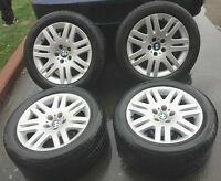 ★★★ (5) OEM BMW 7-SERIES RIMS & MICHELIN TIRES - $580