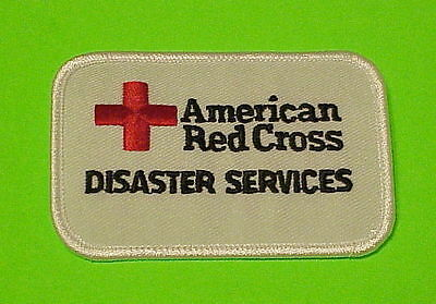 American Red Cross Disaster Services   White    Patch  Free Shipping