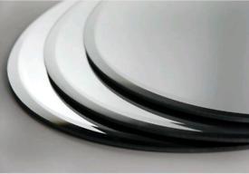 Round Mirror Plates x 4 - 40cm Diameter