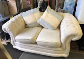 Regency sofa and pillows