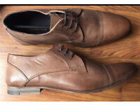 MENS RED HERRING DRESS CASUAL SHOES BNWT SIZE 8 TAN