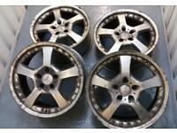 "Genuine Mercedes 18"" split rim style alloy wheels 5x112 VW Audi Seat Skoda vag"