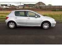 04 REG PEUGEOT 307 1.4 MIT 1 YEAR astra focus golf civic megane c3 c4