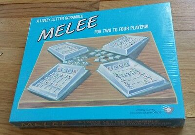 Scramble Word Game (Melee: A Lively Letter Scramble (Word Game, 1985) Sterling Games RARE BRAND)