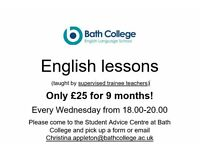 Bargain English classes with trainee teachers