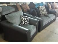 Rrp £799 Tamika 3 seater sofa & matching chair brand new ex display models