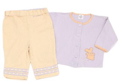 100% Baumwolle Twill Shirt (H&M Twill-Hose und Shirt-Jacke gelb-flieder - 68)