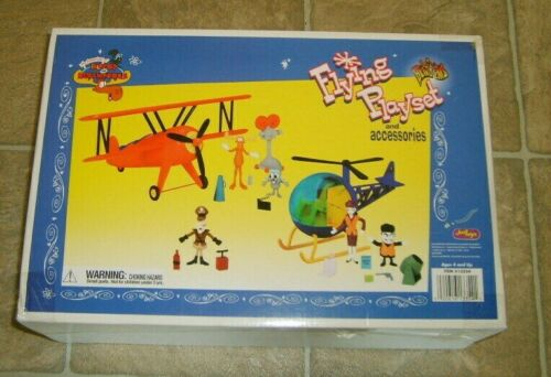 RARE Rocky & Bullwinkle Flying Just Toys Micro Bend-Ems Figure Playset NEW MIB