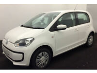 WHITE VOLKSWAGEN UP! 1.0 60 MOVE UP75 HIGH TAKE UP FROM £25 PER WEEK!