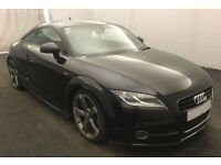 Black AUDI TT COUPE 1.8 2.0 TFSI Petrol S LINE FROM £51 PER WEEK!