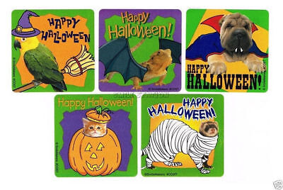 15 Animal In Costume Halloween Stickers Kid Party Goody Bag Filler Favor Supply - Halloween Party Bag