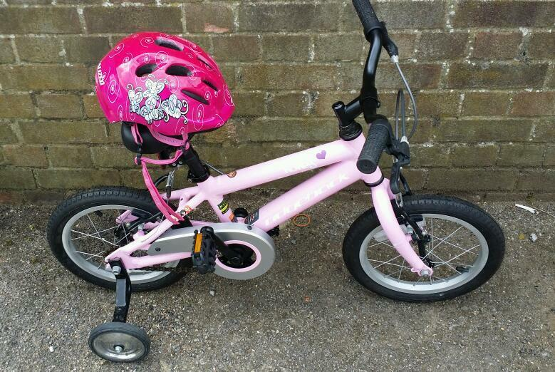 Ridgeback Honey 14 Girls Bike With Stabilisers And Specialized
