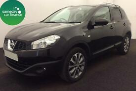 £261.35 PER MONTH BLACK 2013 NISSAN QASHQAI 1.6 TEKNA 5 DOOR DIESEL MANUAL