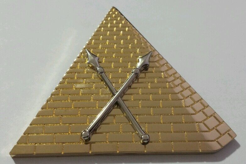 New Shriners First Ceremonial Master Officer Collar Jewel in Gold Tone