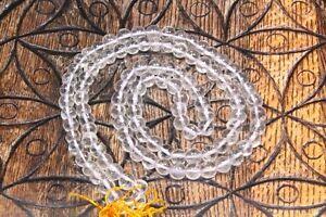 Mala Bergkristall poliert 6 - 8 mm 108 Perlen mit Beutel