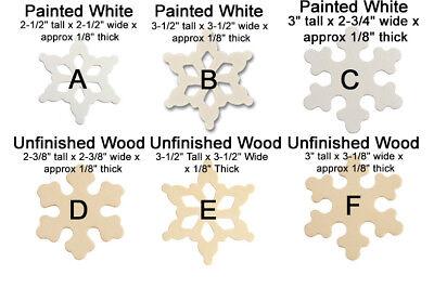 10pcs Snowflakes Painted Snow Flake DIY Ornaments Decorations Xmas Art Craft](Snow Flake Decorations)