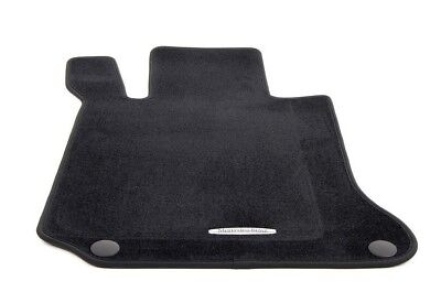 Mercedes-Benz W204 C-Class Sedan Genuine Black Carpet Floor Mat Set NEW 2008-14