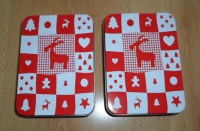 nachts Geschenkboxen Motiv Rentier Rot Weiß 14 X 10 cm (Klein Weihnachten Geschenk-boxen)