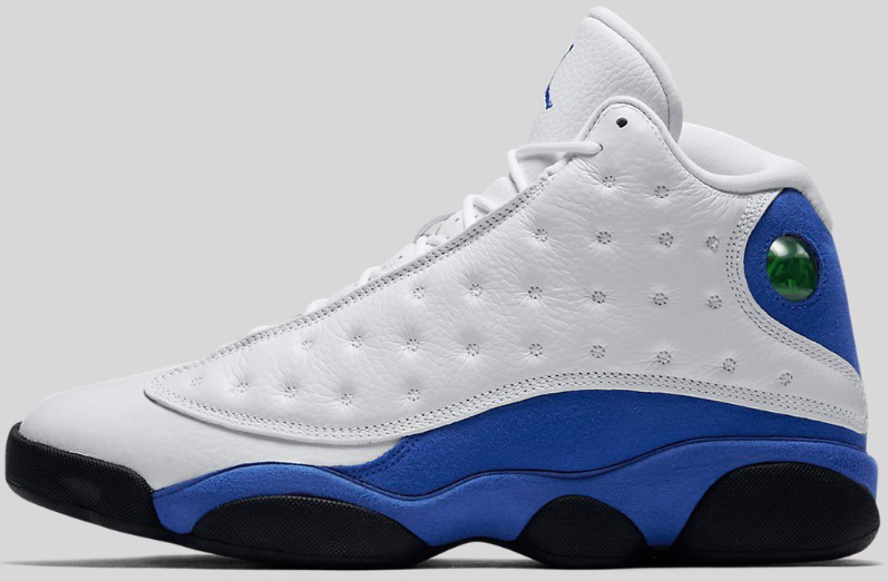 8dc3086435a6 Nike Air Jordan Retro 13 XIII BG 414571-117   GS White Hyper Royal Blk