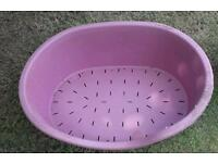 Large purple dog bed