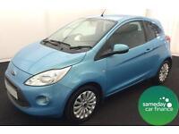 ONLY £107.08 PER MONTH BLUE 2012 FORD KA 1.2 ZETEC S/S 3 DOOR PETROL MANUAL