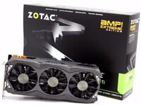 2 x Zotac GeForce GTX 980 Ti AMP Extreme Graphics Cards - 6GB