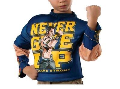Muscle Chest John Cena Costume WWE Halloween Fancy Shirt Long Sleeve M Boys](Halloween John Cena Costume)