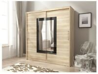 BRAND NEW PAY WEEKLY SLIDING WARDROBE WITH MIRROR ONLY £10 PER WEEK