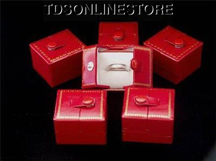 RED SNAP RING GIFT BOXES 6 QTY