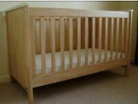 Mamas and Papas Cot Bed and Drawers