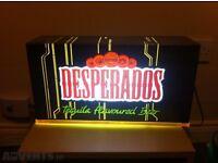 Desperados Beer light up bar sign rust Finnish version