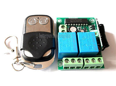 12V DC Wireless RF 2 Channel Self-Locking Mode Remote Control Switch Module