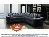 PAY WEEKLY SYMPHONY CORNER OR 3+2 SOFA PER WEEK £20 fsjkl342