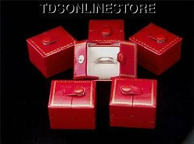 Red Snap Ring Gift Boxes 12 Qty