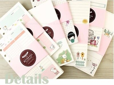 2019 A5 A6 Notebook Filler Paper Refillable Pages For Binder Planner 6 Holes