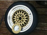 Gold BBS Alloy Wheels Reps.