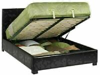 MASSIVE SAVING NEW LEATHER OTTOMAN STORAGE SINGLE-DOUBLE+SMALL DOUBLE & KING SIZE BED FRAME