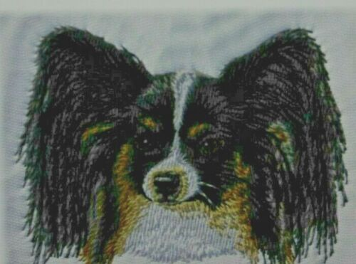 Papillon Dog Breed Bathroom SET OF 2 HAND TOWELS EMBROIDERED Personalize