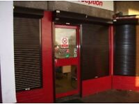 Shop security shutters, security grills. Roller shutter doors, Roller security grill Aberdeen