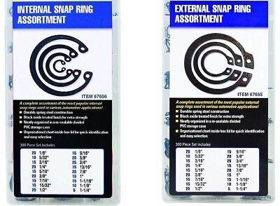 Sae Internal External Snap Ring Retaining Ring Assortment Kit 600 Pieces Total